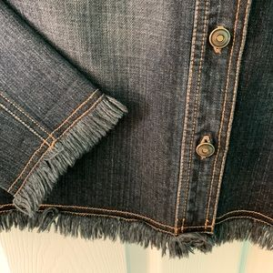 Chico's Super Chic Washed Out Blue Denim Jacket